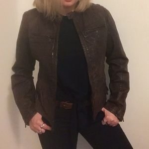 Levi's Vintage Brown Genuine Leather Jacket S